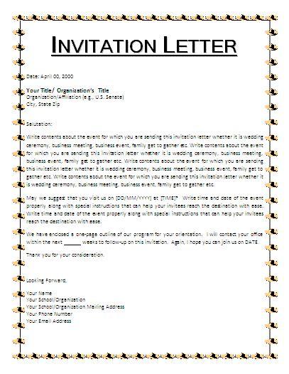 picnic invitation letter  business templates
