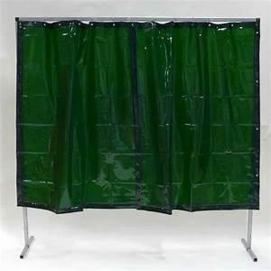 Vorhang 200 Cm Lang : schwei erschutzwand vorhang gr n 200 x 200 cm x 0 4 mm ~ Orissabook.com Haus und Dekorationen