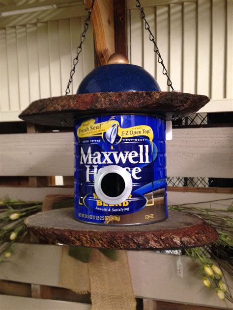 The birdhouse coffee shop ei tegutse valdkondades sandwich kauplused, kohvikud. So I found some more old metal coffee cans so I made another Maxwell House bird house! | Maxwell ...