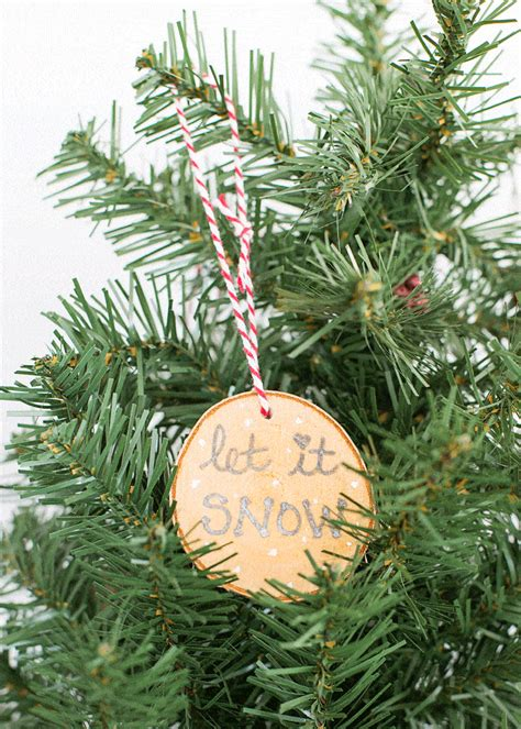 rustic wood painted christmas ornaments domestically