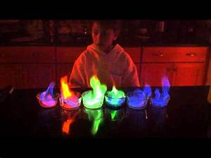 5th Grade Science Project Rainbow Flame Youtube