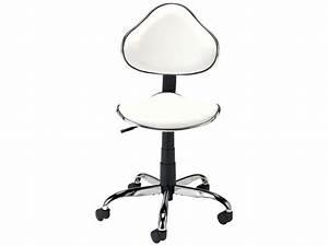 Fauteuil Bureau Conforama : chaise dactylo hanna coloris blanc vente de fauteuil de bureau conforama ~ Teatrodelosmanantiales.com Idées de Décoration