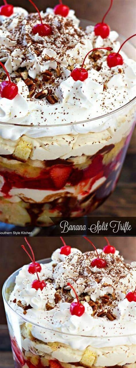 banana split trifle  layers  pineapple pound cake