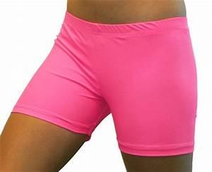 Bright Neon Pink 4 inch Inseam Spandex pression Shorts