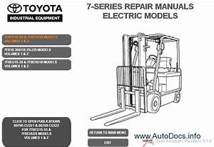 Toyota Forklift 7 Series Gas  Lpg   Electric Models Service