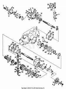 Gravely 41905 2 Wheel Tractor  12hp  4 Sp Manual Start With Steering Brake Parts Diagram For