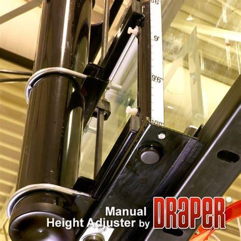 draper manual height adjuster