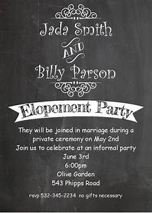 after the wedding party invitations or elopement party With wedding party invitations after getting married