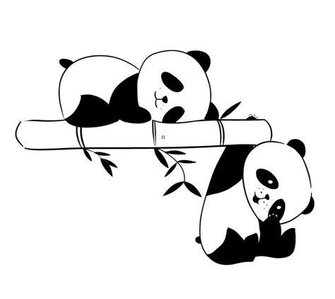 panda colorear poster