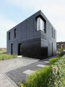 Simple Modern House Building Ideas by Simple Box Shaped House With Patterned Aluminum Facade