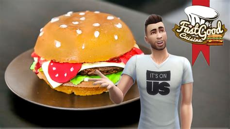 cuisine sims 3 fastgood en sims recette du gâteau hamburger