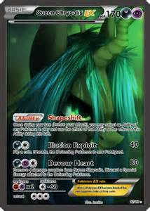 Queen Chrysalis EX Pokemon card