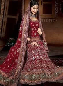 fashion plannet indian wedding dress for bride red and With red indian wedding dress