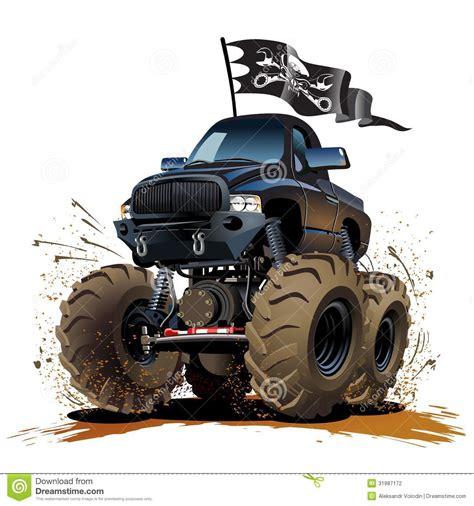 monster trucks races cartoon cartoon monster truck stock vector illustration of