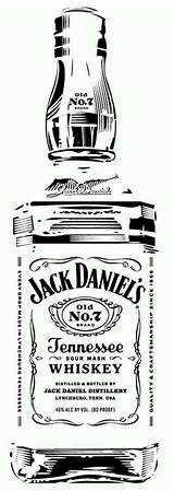 Jack Daniels Stencils Bottle Whiskey Silhouette Stencil Tattoo Pyrography Daniel Clip Glass Vinyl Templates Cameo Projects Label Clipart Etching Cricut sketch template