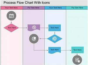 Draw The Flow Chart Of Planning Process Hh Process Flow Chart With Icons Flat Powerpoint Design