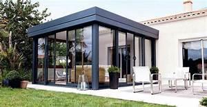 Modele De Veranda : v randa toiture plate autoportante et isolante ~ Premium-room.com Idées de Décoration