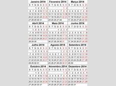 Bases de Calendário 2010 a 2014 com feriados nacionais