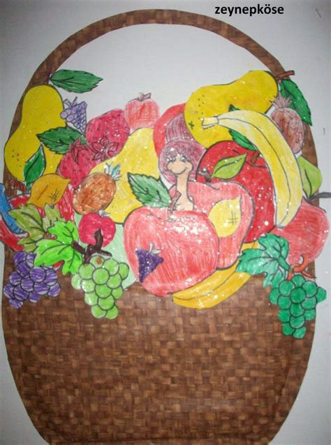 fruit basket craft idea  kids crafts  worksheets