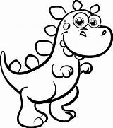 Coloring Pages Easy Dinosaur Dinosaurs Popular sketch template