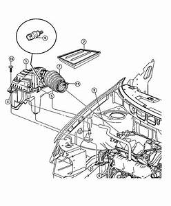 Chrysler Town  U0026 Country Hose  Pcv Valve To Intake Manifold  Cranckcase  Egm  Egl