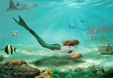 Beautiful Mermaids Animated Wallpaper - mermaid screensavers and wallpaper wallpapersafari