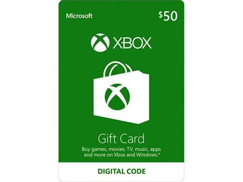 Xbox Gift Card $50 US (Email Delivery) - Newegg.com