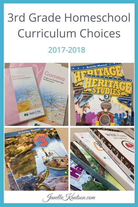 3rd Grade Homeschool Curriculum Choices 20172018  Janelle Knutson