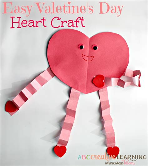 easy s day craft easy valentine s day heart craft
