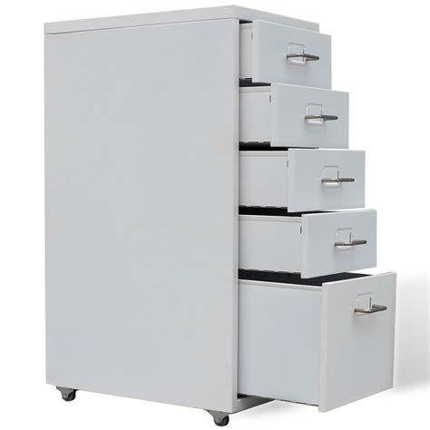 small metal filing cabinet metal filing cabinet with 5 drawers gray vidaxl com
