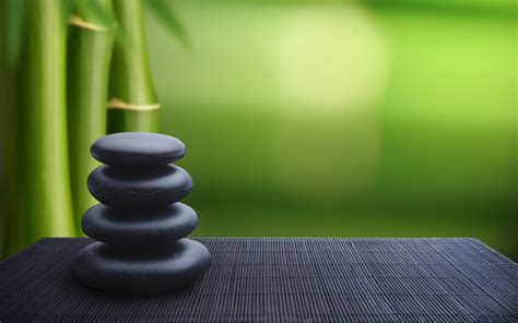 stones, Green, Bamboo Wallpapers HD / Desktop and Mobile ...