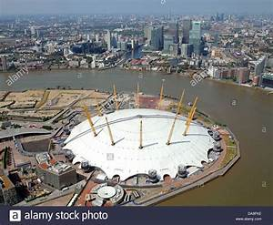 aerial view of the O2 Arena, Millennium Dome, London with ...