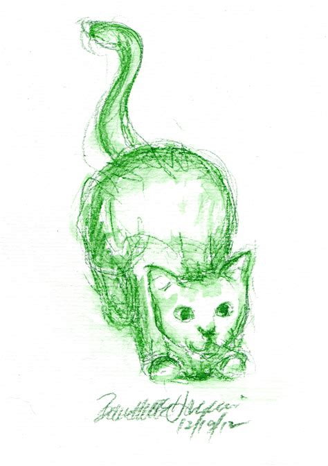 daily sketch reprise   pounce  creative cat