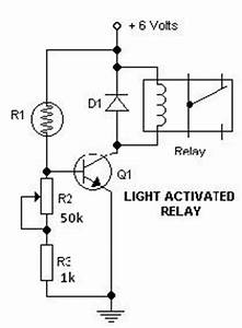 light dark switch activated relay circuits With dark and light activated relay circuit diagram