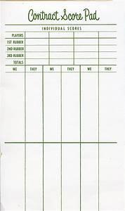 Scorecard bridge for Bridge score card template