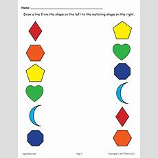 6 Free Shapes Matching Worksheets For Preschool & Toddlers! Supplyme