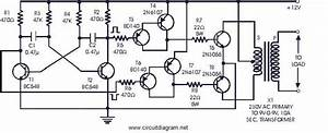 Power Inverter 60w 12v Dc To 230v Ac Using 2n3055