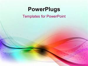 powerpoint template abstract multi color waves with blue With powerplugs templates for powerpoint