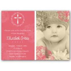 bridal shower luncheon cross jubilee girl photo baptism invitations paperstyle