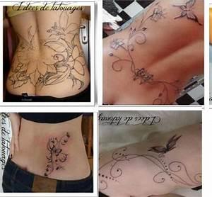 Tatouage Bas Dos Femme : tatouage bas dos cote femme arabesque ~ Nature-et-papiers.com Idées de Décoration