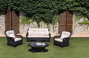 Salon Jardin Rotin : meubles de jardin en poly rotin id es tendance pour l 39 t ~ Premium-room.com Idées de Décoration
