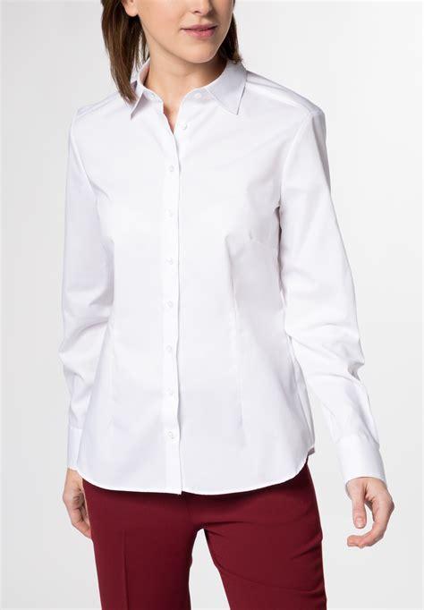 eterna long sleeve blouse modern classic white uni