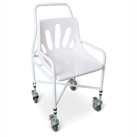 mobile height adjustable shower chair