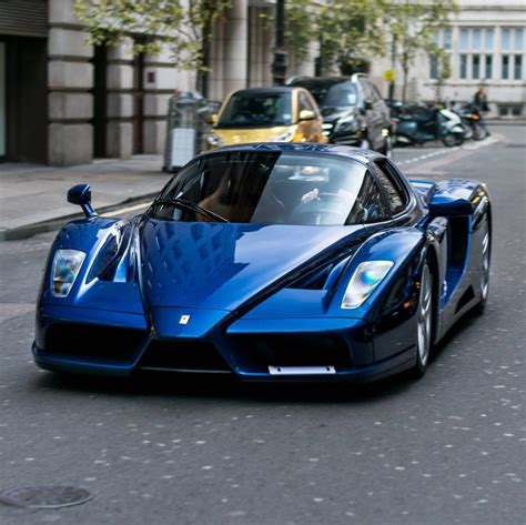 3.6k miles, tdf blue on grey alcantera with tdf contrast stitching. Ferrari Enzo painted in Tour de France Blue Photo taken by ...