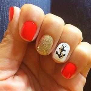 We love nautical nails for summer! | Nautical nails ...