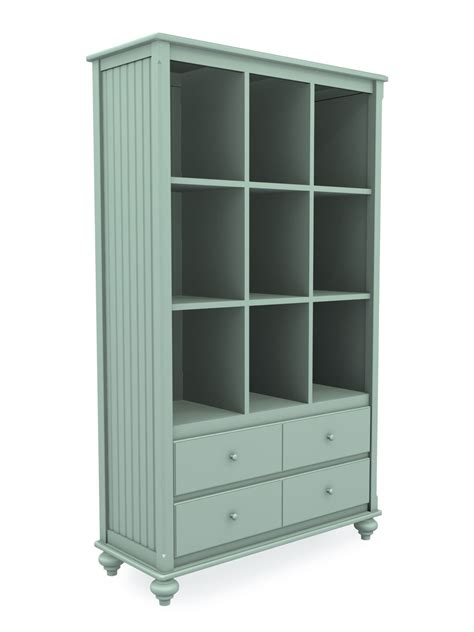 8 foot tall bookcase tall wide cottage cubbie bookcase with two drawers