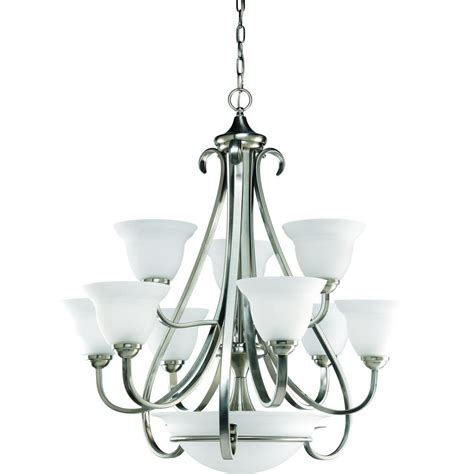 discount chandelier torino collection brushed nickel 9 light chandelier 7