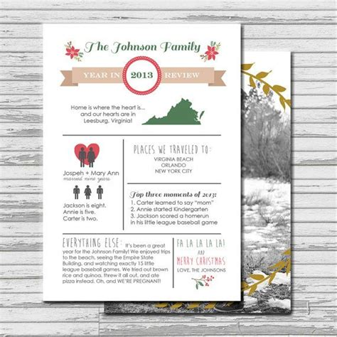 Year In Review Infographic Custom Photo Christmas Card