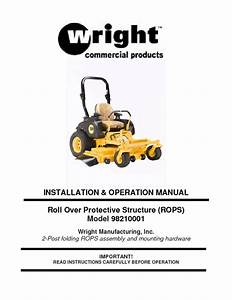 Roll Over Protective Structure 98210001 Manuals