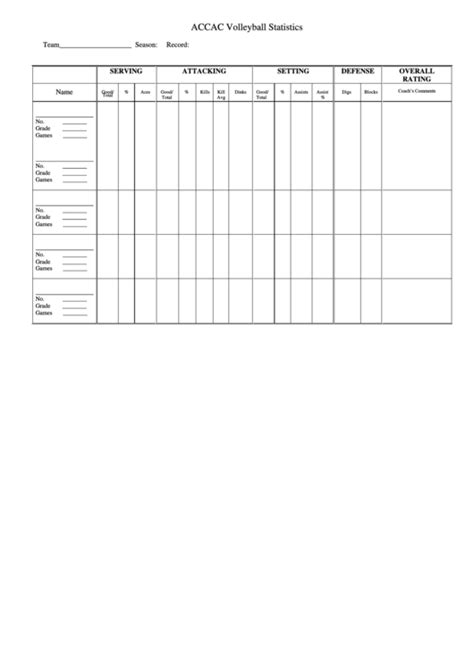 top volleyball stat sheets      format